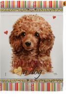 Miniature Poodle Happiness House Flag