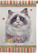 Blue Bicolor Ragdoll Happiness House Flag