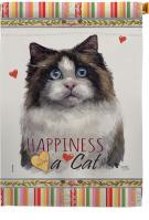 Mitted Ragdoll Happiness House Flag