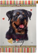 Rottweiler Happiness House Flag