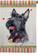 Scottish Terrier Happiness House Flag