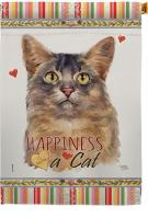 Somali Cat Happiness House Flag
