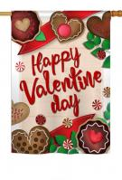 Very Sweet Valentine Day House Flag