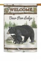 Bear Paw Lodge House Flag
