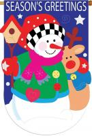 Season\'s Greetings Applique House Flag