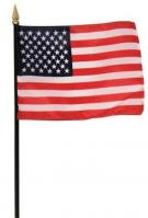 US Made US Stick Poly Gloss Flag 12\