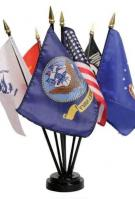 US Made Coast Guard Miniature Flags On Stick 4\