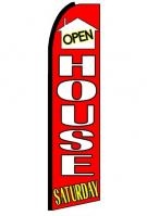 Open House Saturday Feather Flag 3\' x 11.5\'