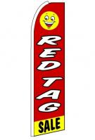 Red Tag Sale Wind Feather Flag 3\' x 11.5\'