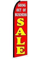 Going Out Of Business Sales Feather Flag 3\' x 11.5\'