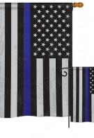 US Blue Stripe Garden Flag