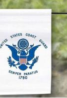 US Made Coast Guard Garden Flag 12\
