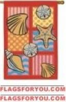 Patchwork Shells House Flag - 3 left