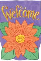 Gerbera Bloom Double Applique Garden Flag