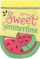 Sweet Summertime Double Applique Garden Flag