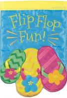 Summer Flip Flops Double Applique House Flag