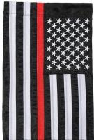 Thin Red Line Single Applique Garden Flag