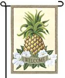 Elegant Pineapple Welcome Garden Flag